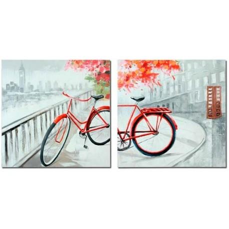 Cuadros decorativos de bicicleta en estilo moderno - Cuadros estilo moderno ...
