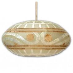 Lámpara moderna para techo fabricada con nácar