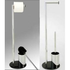 Escobillero portarrollos con base en color negro