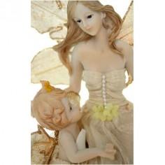 Figura hada de resina con niño