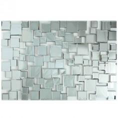 Espejo de cristal con motivo cuadrados