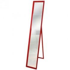 Espejo de pie con marco de madera en color rojo