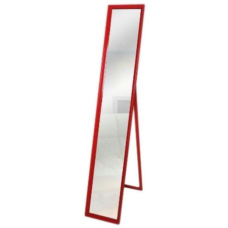 Comprar espejo de pie con marco de madera en color rojo for Espejo pie madera