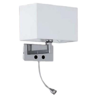 Aplique con pantalla en cromo con brazo articulado LED