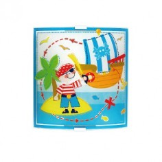 Aplique infantil de cristal para pared Pirate