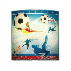 Aplique infantil de cristal para pared Football
