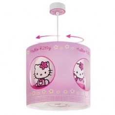 Lámpara infantil colgante giratoria hello kitty