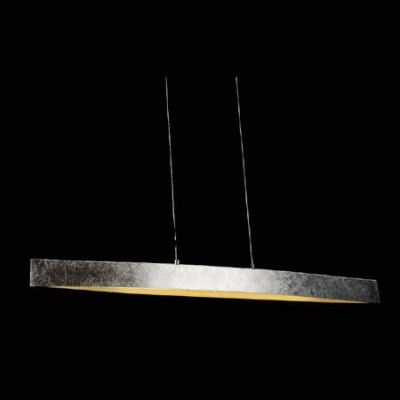 Lámpara colgante de LED con estilo moderno en color pan de plata