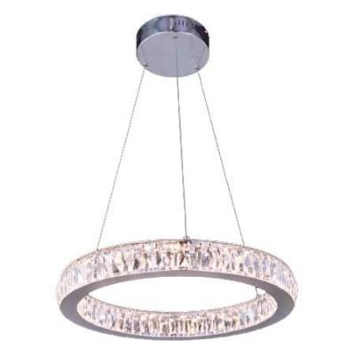 Lámpara colgante en cromo con de cristales decorativos