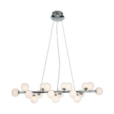 Lámpara colgante de LED con acabados en cromo y decoración de bolas