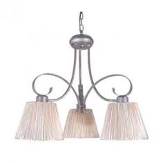 Lámpara en color plata de estilo moderno con pantallas blancas