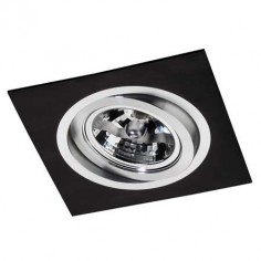 Empotrable en color negro con estilo moderno y detalles en aluminio