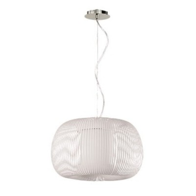 Lámpara colgante de estilo moderno de tiras blancas de acrílico