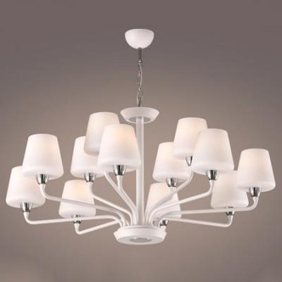 Lámpara de techo con doce luces en color blanco