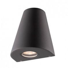 Lámpara de pared con estilo actual con acabado en gris oscuro