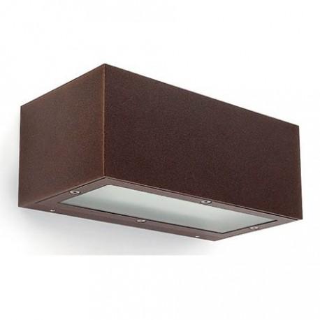 Comprar aplique de pared para exteriores de aluminio en color marr n Aplique de pared exterior