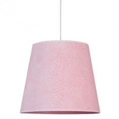 Lámpara de techo colgante en color rosa con dibujos de espirales