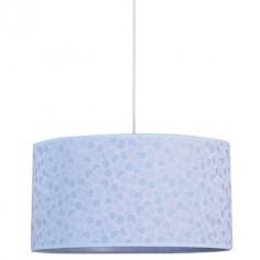 Lámpara colgante Lunas en color azul con detalles en mosaico