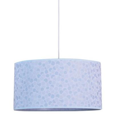 Lámpara colgante en color azul con detalles en mosaico