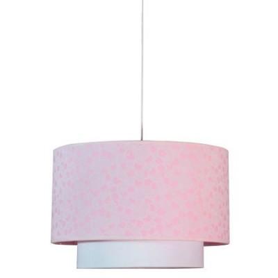 Lámpara colgante con acabado en rosa y doble pantalla