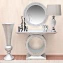 Conjunto decorativo en cristal y plata