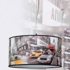 Lámpara colgante Taxi con motivo de Londres