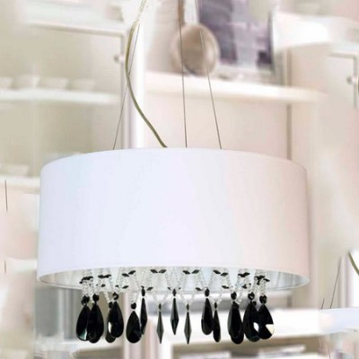 Lámpara colgante en color blanco con lágrimas