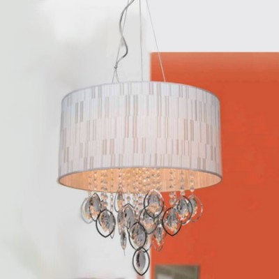 Lámpara de techo en color crema con lágrimas