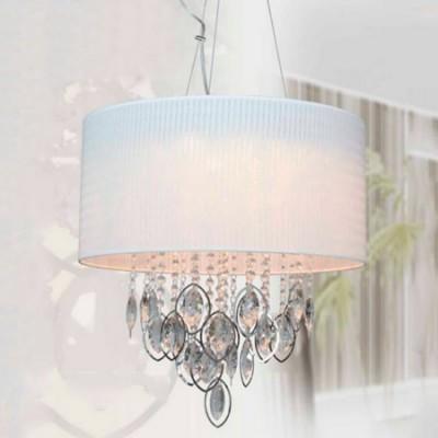 Lámpara colgante con pantalla blanca detalles LED
