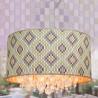 Lámpara de techo colgante en tonos lilas y verdes