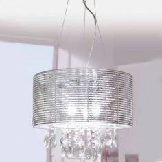 Lámpara colgante Motion con acabado en metal cromado