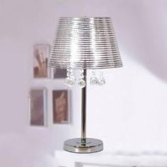 Lámpara de sobremesa en metal y cromo