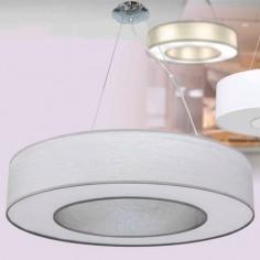 Lámpara colgante circular en color gris plata