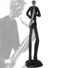 Figura de músico saxofonista fabricado en resina