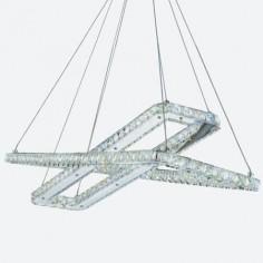 Lámpara colgante de Led serie Clover en cromo y cristal