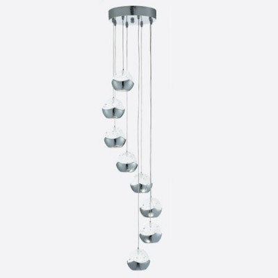 Lámpara de Ledcon ocho luces en cromo