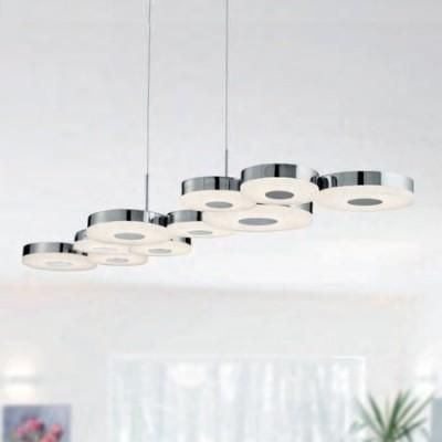 Lámpara colgante moderna en cromo
