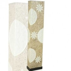 Pie de salón en fibral y nácar blanco 150 cm