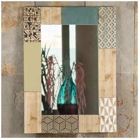 Comprar espejo fabricado en madera con estilo industrial for Espejo estilo industrial