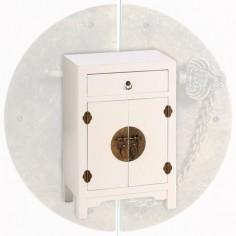 Mesita de madera árabe en color blanco