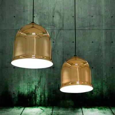 Lámpara colgante de cristal en color oro