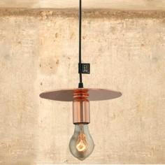 Lámpara colgante vintage en cobre
