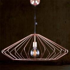 Lámpara colgante de acero en color cobre