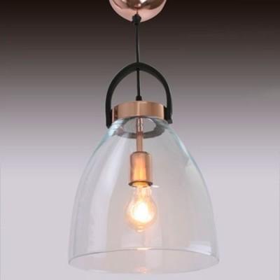 Lámpara colgante vintage de acero y cobre