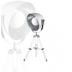 Lámpara sobremesa con trípode en blanco