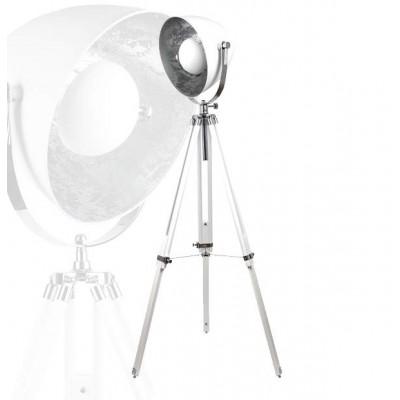 Lámpara de pie con trípode color blanco