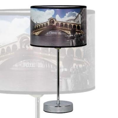 Lámpara de sobremesa en cromo Venice