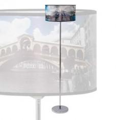 Lámpara pie de salón en cromo Venecia