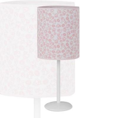 Lámpara de sobremesa infantil en color rosa