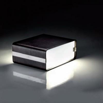 Lámpara sobremesa color negro detalles en cromo Curvo